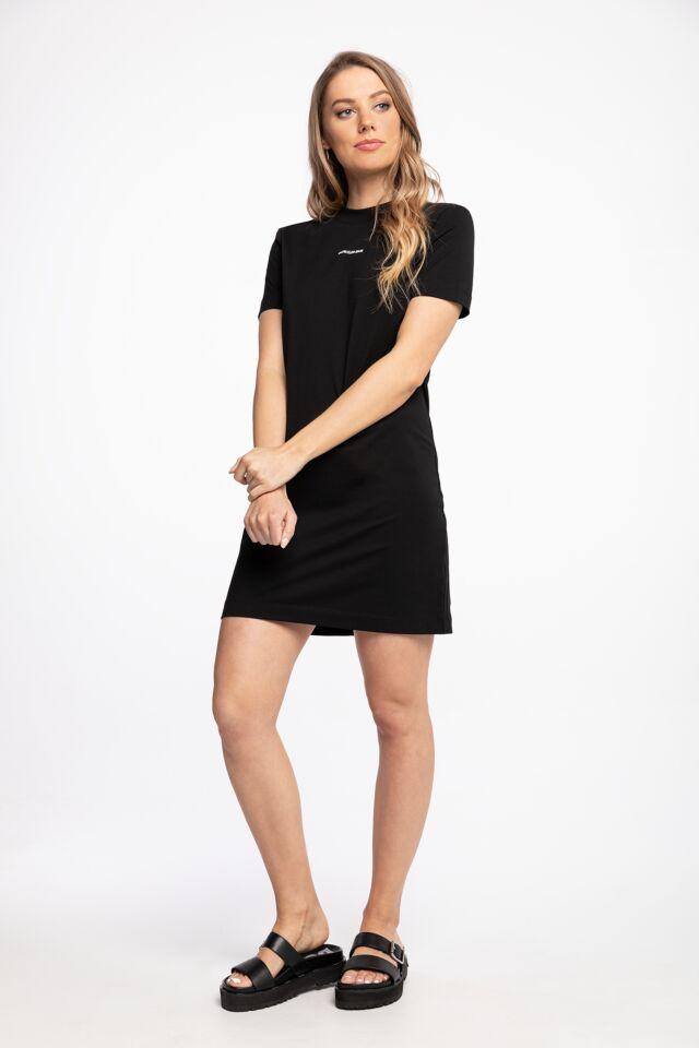 SUKIENKA Z KRÓTKIM RĘKAWEM MICRO BRANDING T-SHIRT DRESS J20J215654BEH