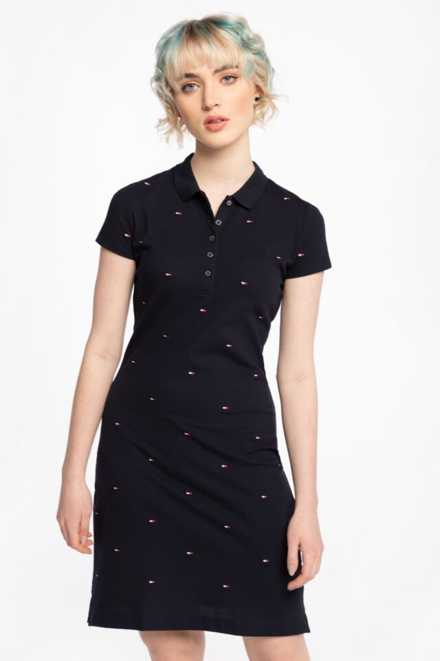 SUKIENKA FELICIA SLIM EMB POLO DRESS SS WW0WW2785700P