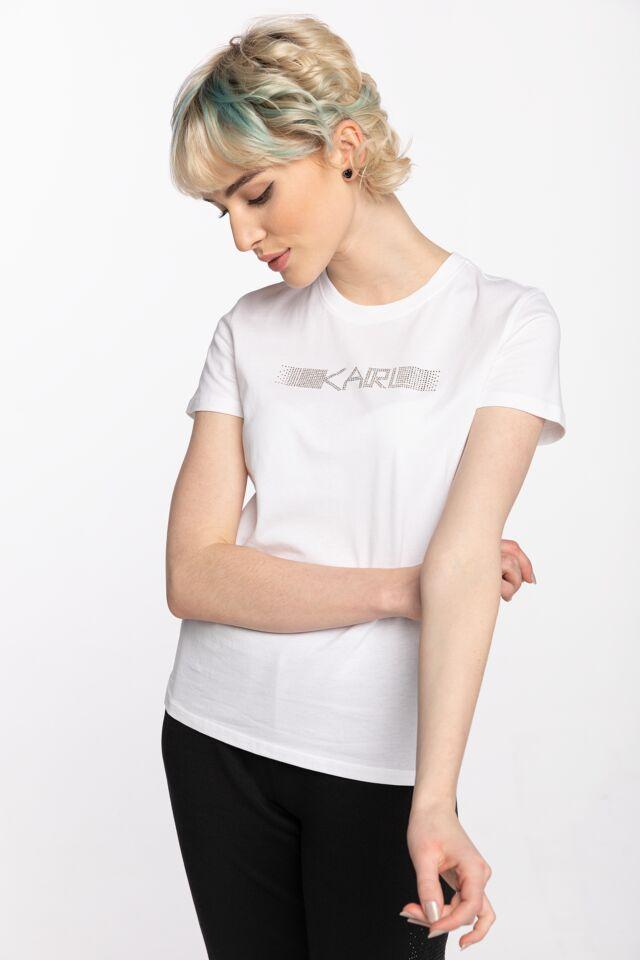 Rhinestone Logo T-Shirt 211W1706100-100