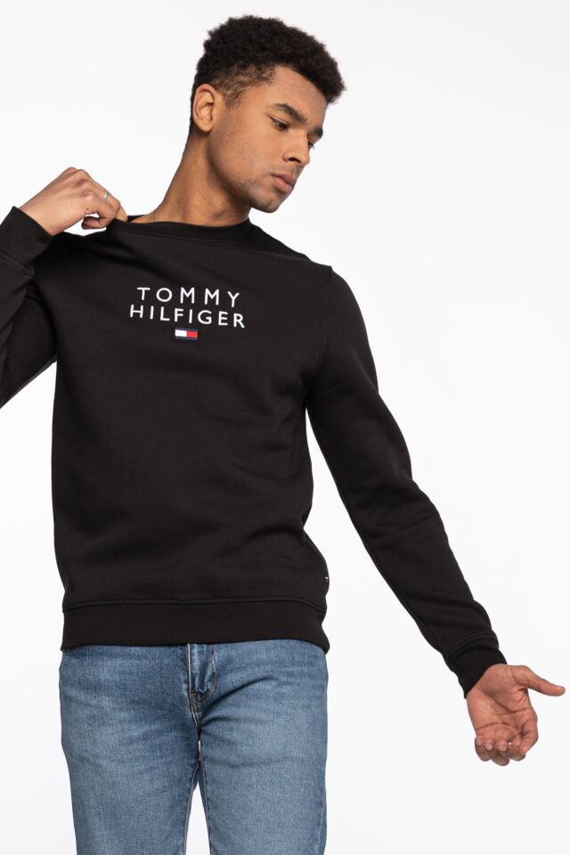 STACKED TOMMY FLAG CREWNECK MW0MW18299BDS