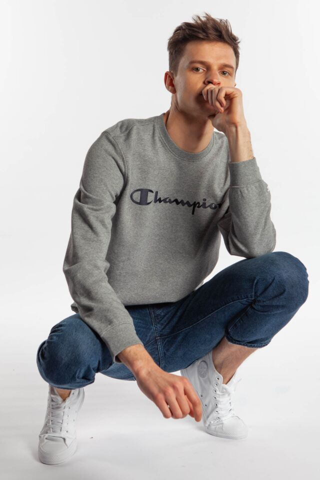 CREWNECK SWEATSHIRT EM524 LIGHT GREY