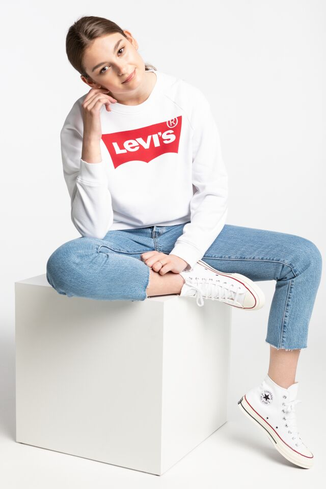 RELAXED GRAPHIC CREW 29717-0014 WHITE/RED