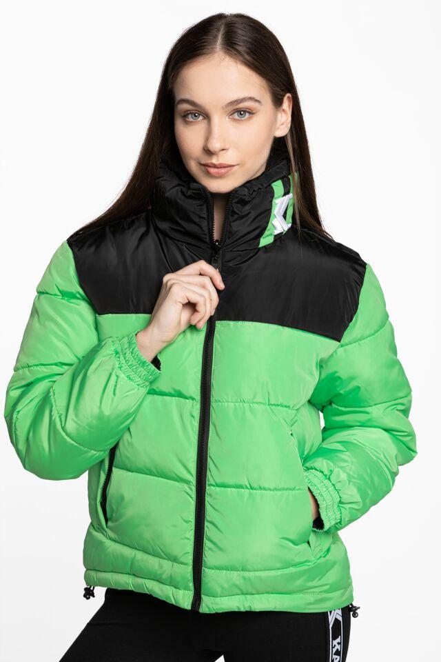 KK OG Block Reversible Puffer Jacket green / black 6176249 BLACK/GREEN