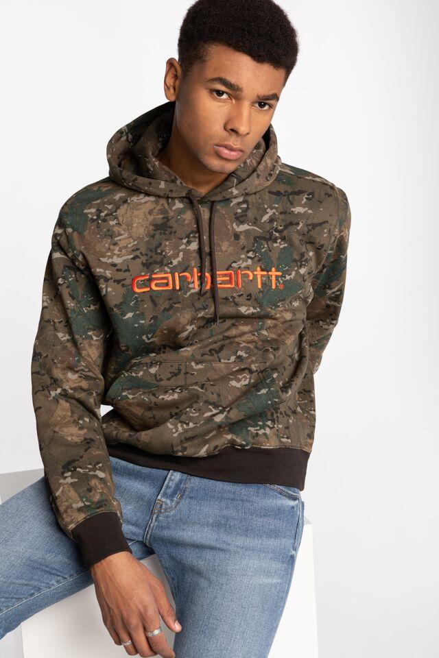 Hooded Carhartt Sweat 093 CAMO COMBI / SAFETY ORANGE