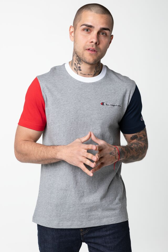 CREWNECK T-SHIRT EM006 LIGHT GREY