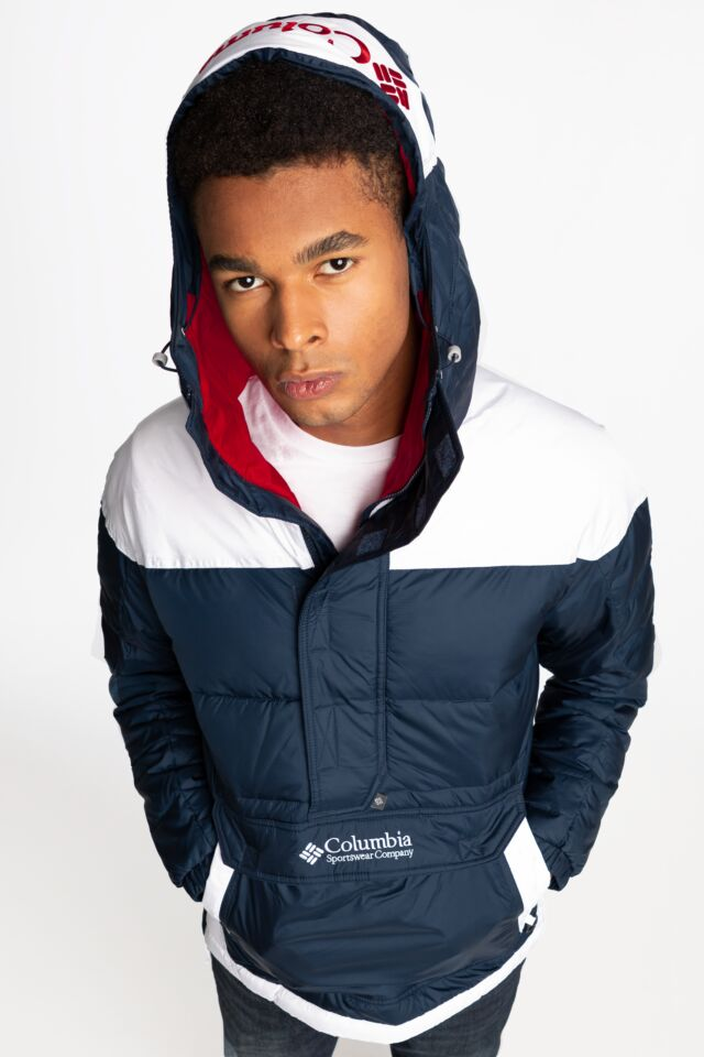 Lodge Pullover Jacket 422 NAVY / WHITE