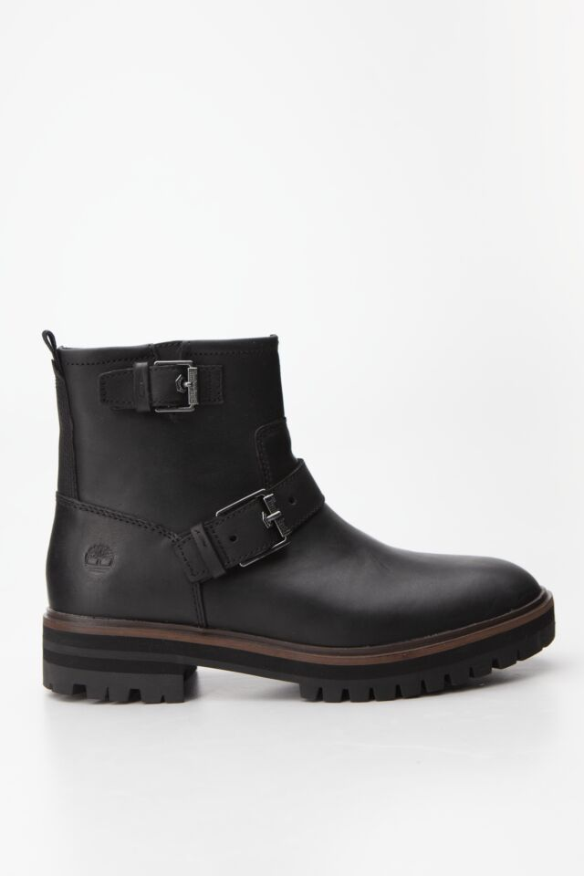 LONDON SQUARE BIKER BOOT 015 BLACK FULL-GRAIN