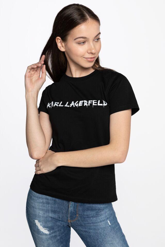 Graffiti Logo T-Shirt 206W1701-999 BLACK