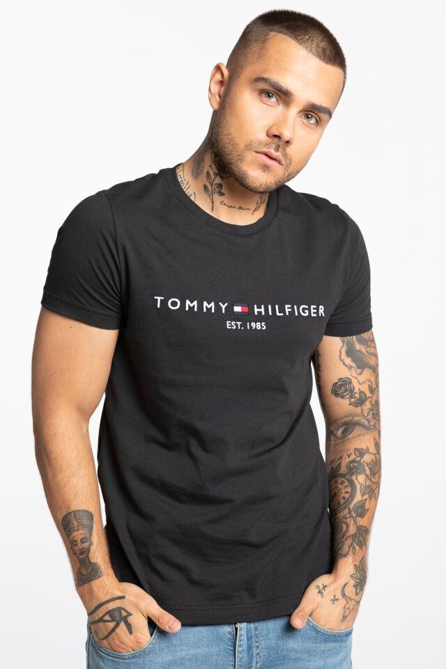CORE TOMMY LOGO TEE MW0MW11465-BAS BLACK