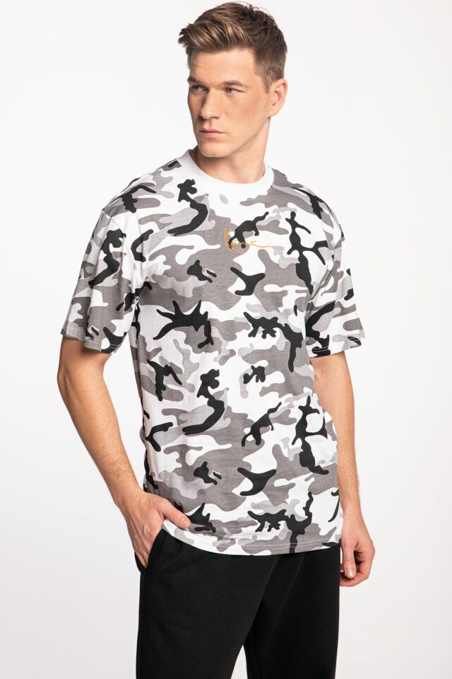 KK Small Signature Camo Tee 6069897 BLACK/GREY/WHITE