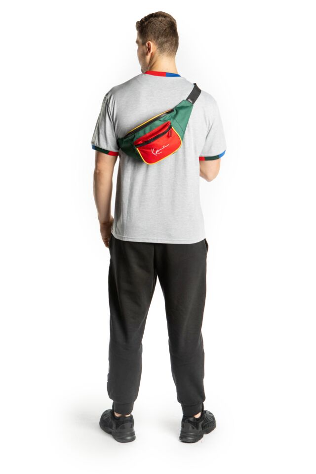 SIGNATURE BLOCK WAIST BAG 909 RED/GREEN/YELLOW