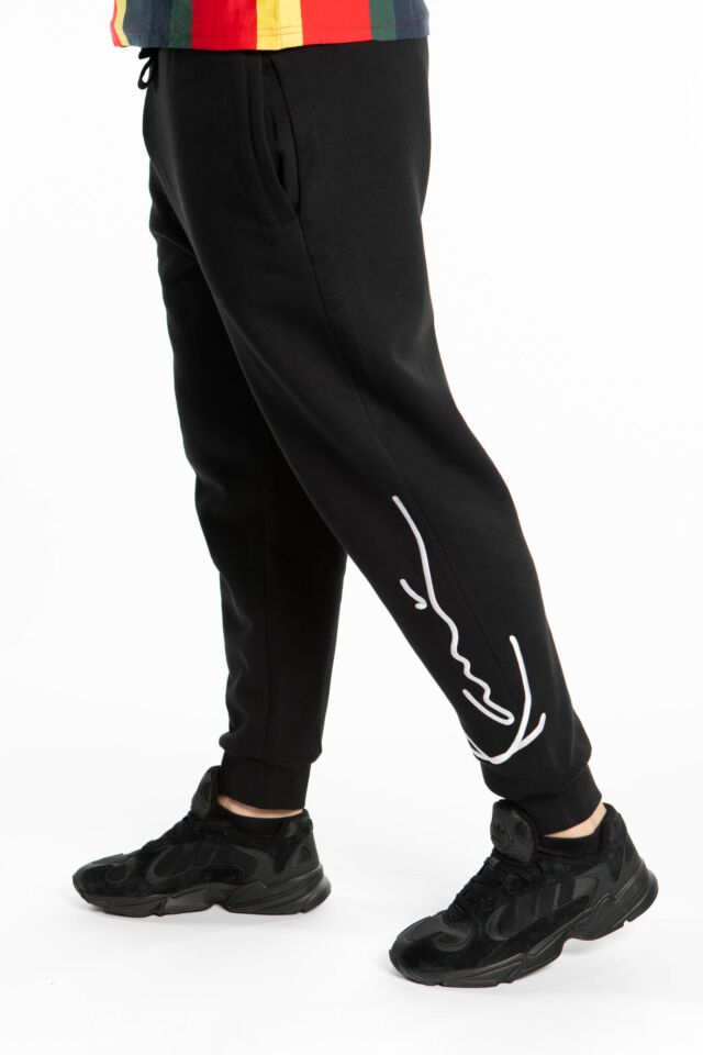 SIGNATURE RETRO SWEATPANTS 737 BLACK/WHITE