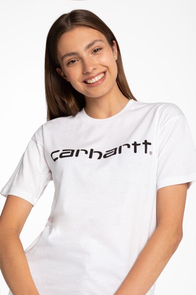 W' S/S Script T-Shirt I028442-290 WHITE
