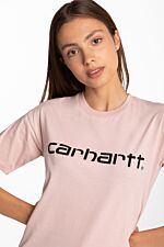 W' S/S Script T-Shirt I028442-0F590 PINK