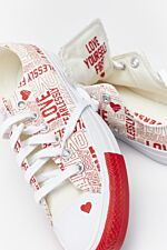 CHUCK TAYLOR ALL STAR OX 311 EGRET/UNIVERSITY RED/WHITE
