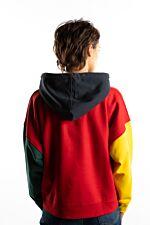 RETRO BLOCK HOODIE 866 RED/YELLOW/GREEN/BLUE