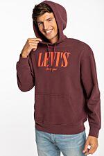 Sweatshirts 38479-0003 BURGUNDY/ORANGE
