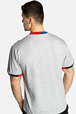 SIGNATURE RINGER TEE 592 GREY/NAVY/GREEN/RED