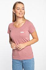 Fjällräven Logo T-shirt W 509 RASPBERRY RED-MELANGE