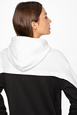 Hooded SWEATSHIRT 249 BLACK / WHITE