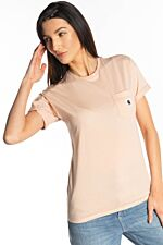 W' S/S CARRIE POCKET T-SHIRT 08T90 POWDERY/GOLD