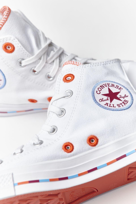 CHUCK TAYLOR ALL STAR HI 718 WHITE/ROSE MAROON