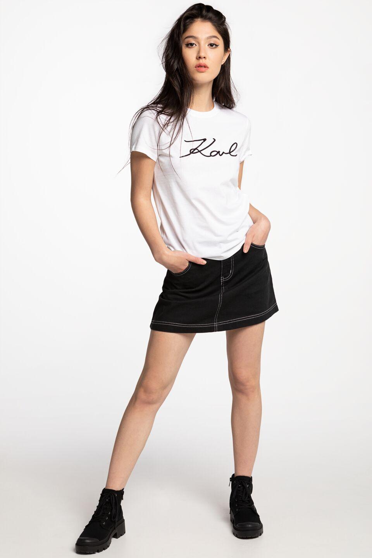 Logo Rhinestone T-Shirt 206W1707-100 WHITE