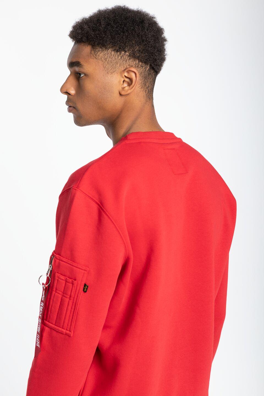 Alpha Industries NASA Inlay Sweater 308 SPEED RED