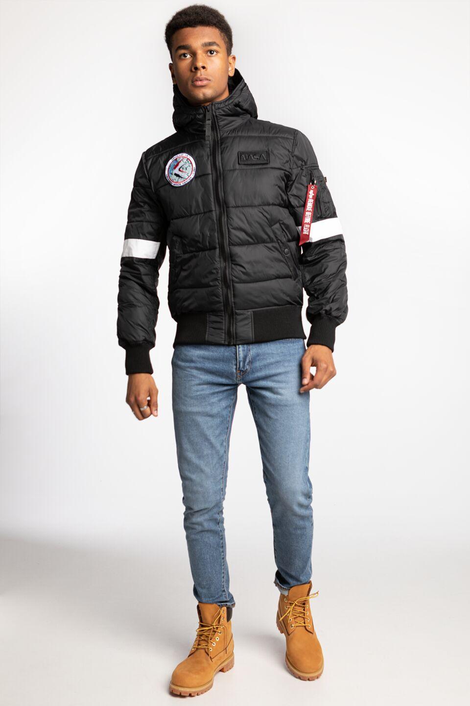 Hooded Puffer FD NASA 121 BLACK