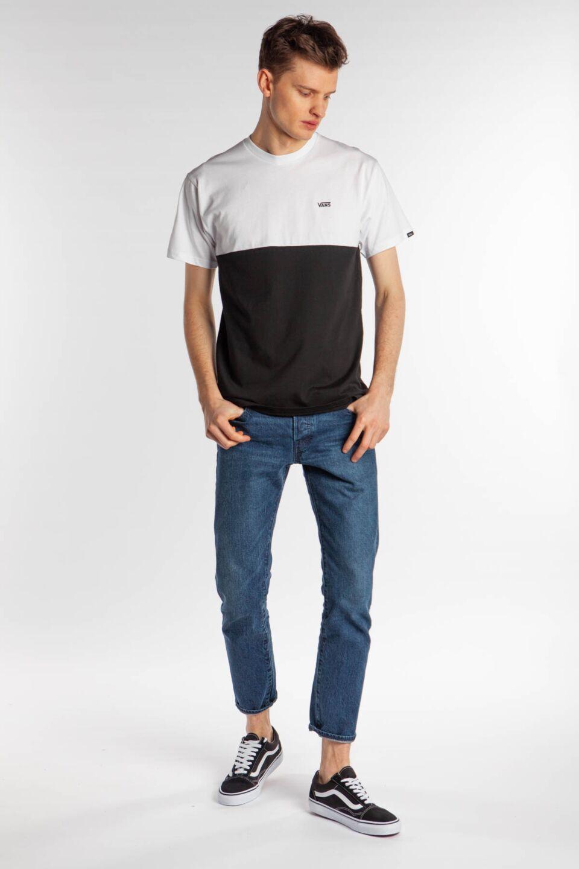 COLORBLOCK TEE Y28 BLACK/WHITE