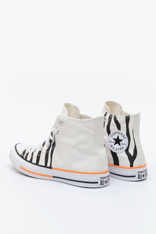 CHUCK TAYLOR ALL STAR HI 661 EGRET/TOTAL ORANGE/BLACK