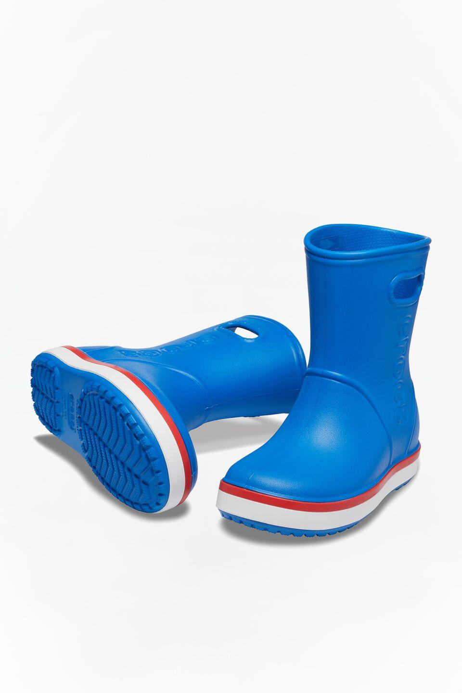 CROCBAND RAIN BOOT KIDS 827 BRIGHT COBALT/FLAME
