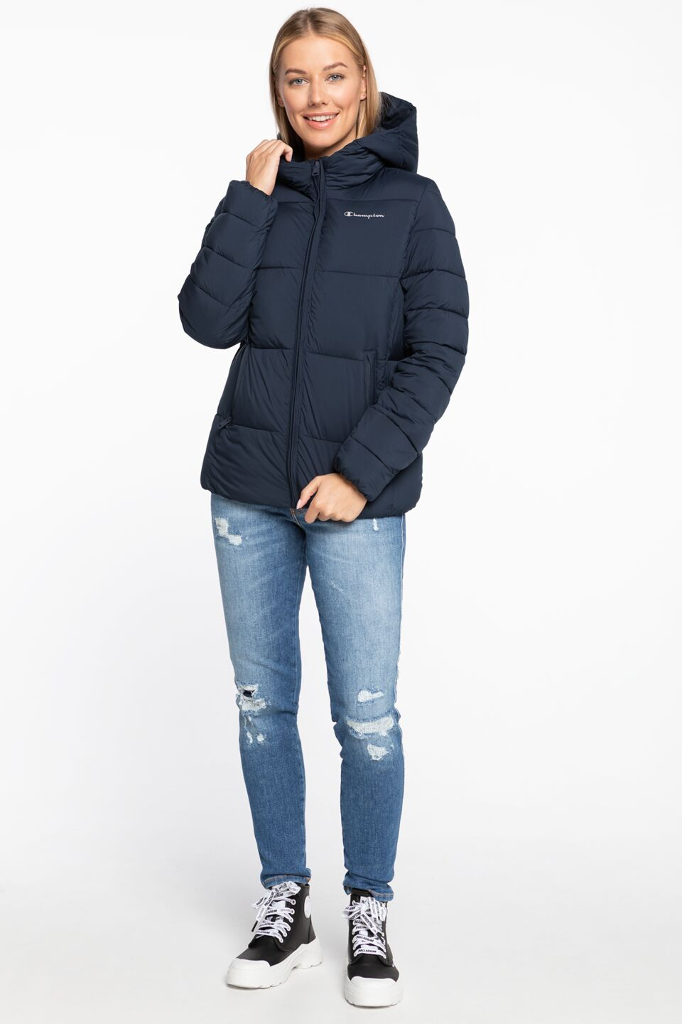 Hooded Polyfilled Jacket 113424-BS501 NAVY