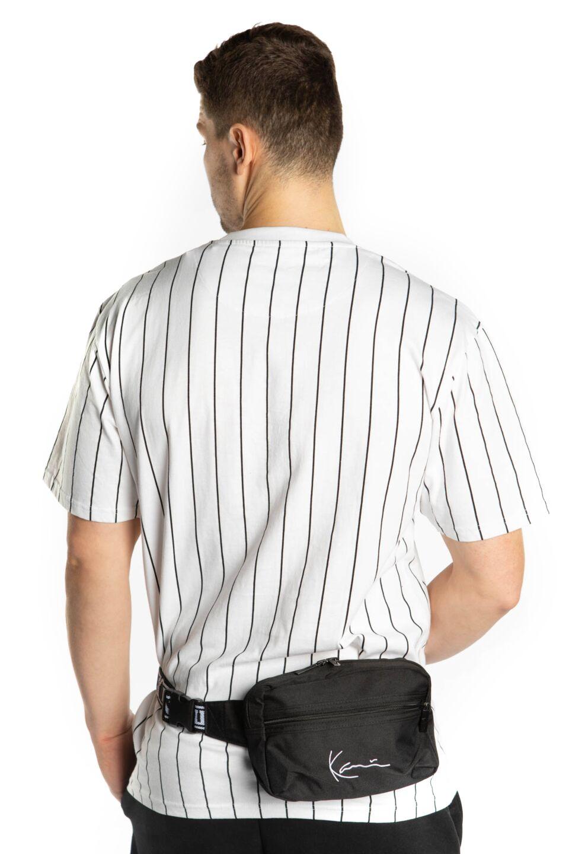 SIGNATURE TAPE HIP BAG 907 BLACK/WHITE