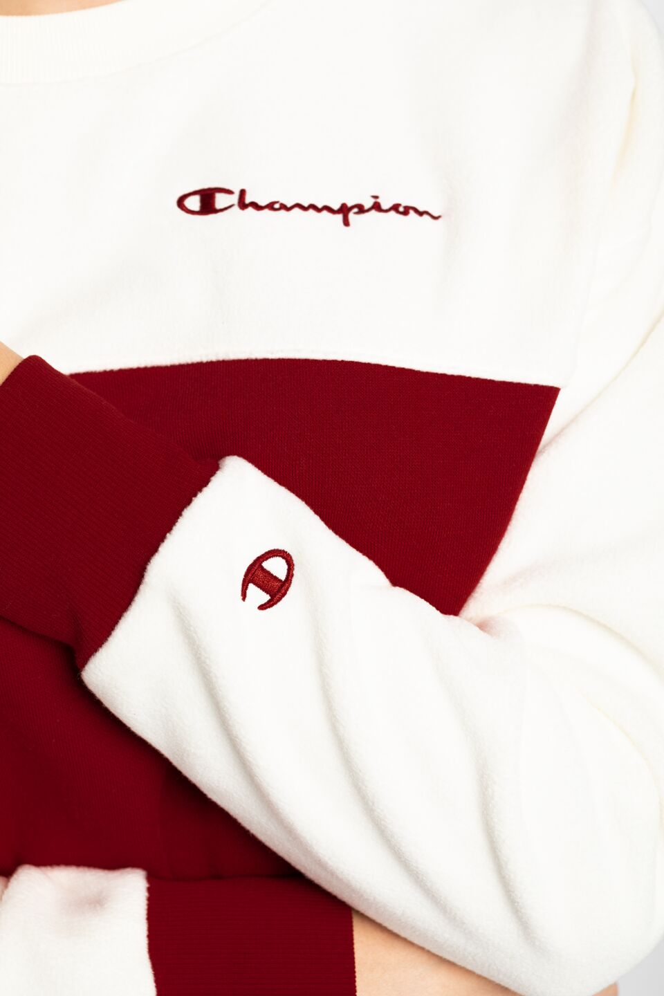 Crewneck Sweater 113232-RS502 WHITE/RED