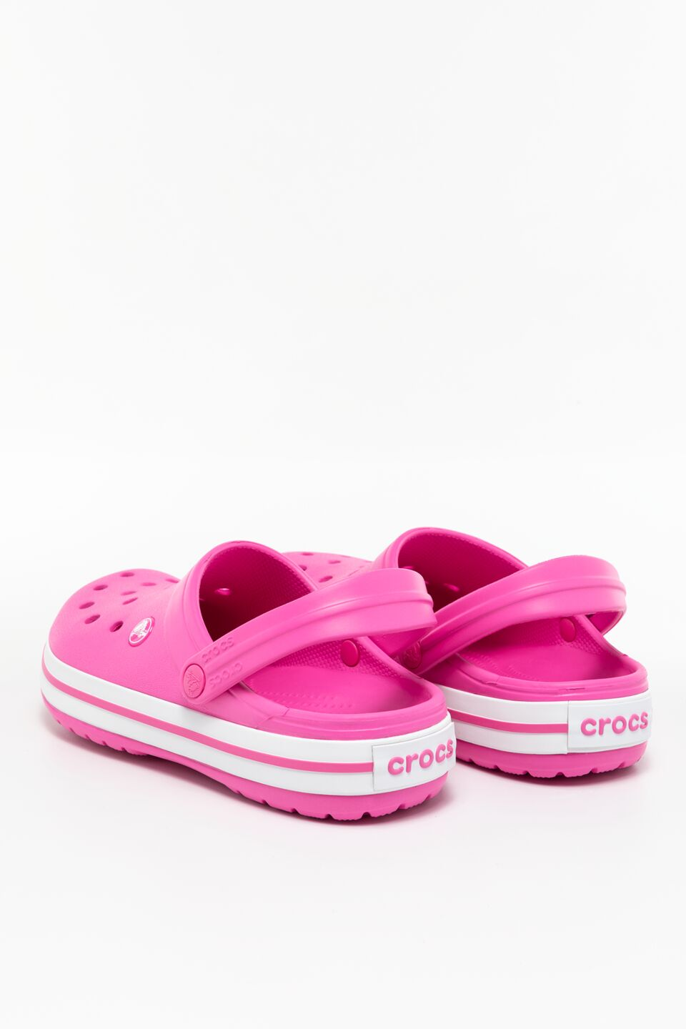 CROCBAND 6QR ELECTRIC PINK/WHITE