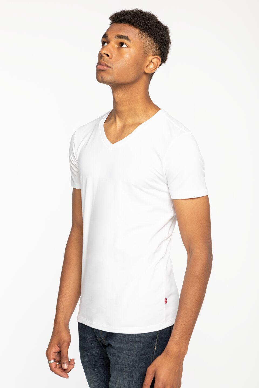 MEN V-NECK 2PACk 37152-0004 WHITE
