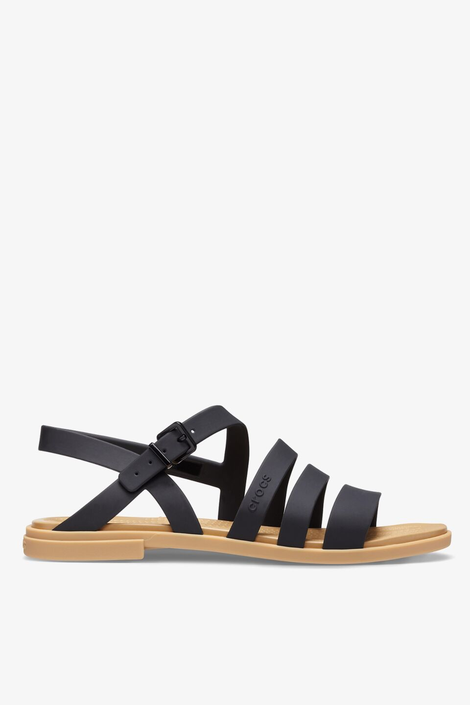 TULUM SANDAL W 206107 BLACK/TAN