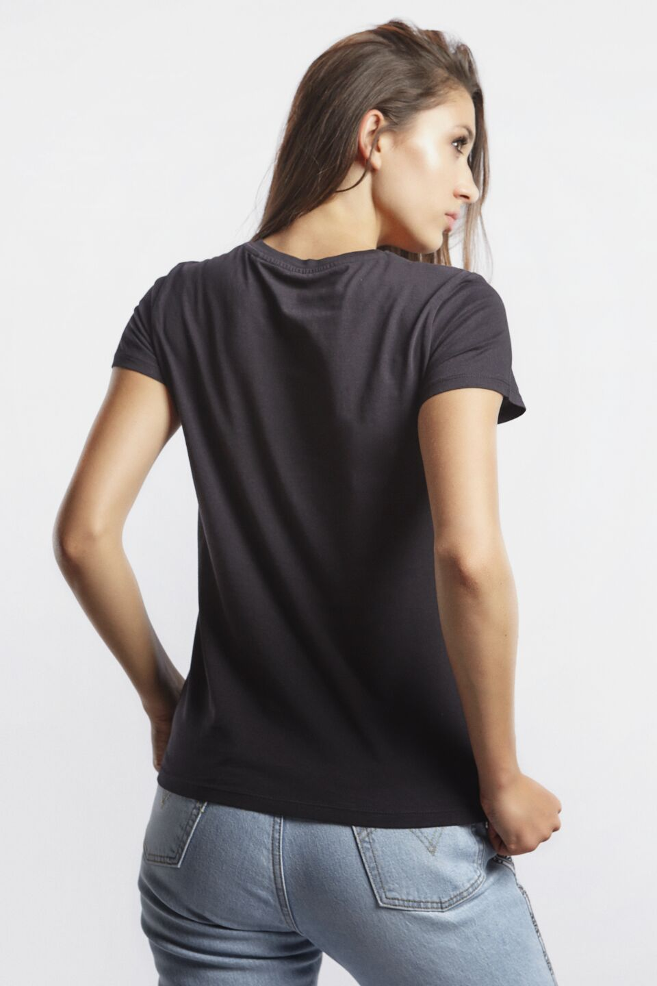 THE PERFECT GRAPHIC TEE 0201 LARGE BATWING BLACK